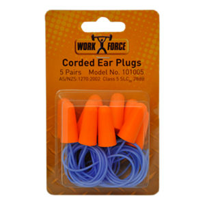Safe-T-Tec: Corded Ear Plugs- 5 Pair Hang Sell