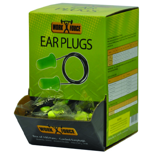 Safe-T-Tec: Bell Shaped Corded Ear Plugs