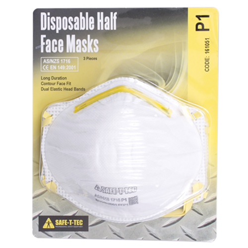 Safe-T-Tec: P1 Disposable Mask 3 Pack