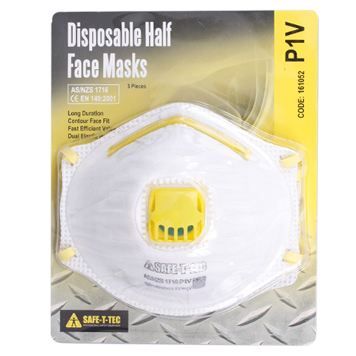 Safe-T-Tec: P1V Disposable Mask 3 Pack