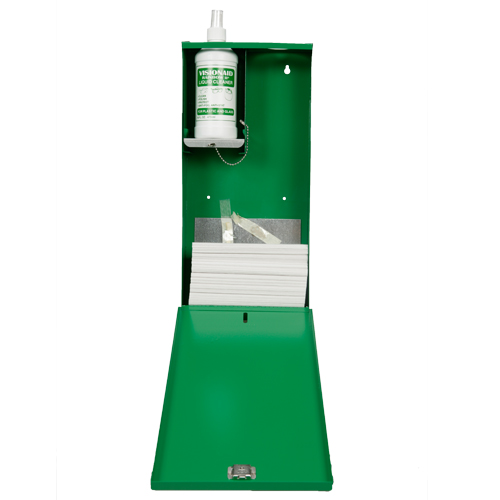 Safe-T-Tec: Metal Wall Mounted Lens Cleaning Stations
