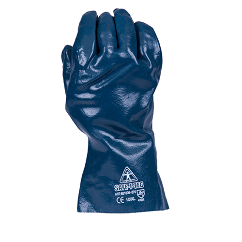Safe-T-Tec: Blue Nitrile Gauntlets