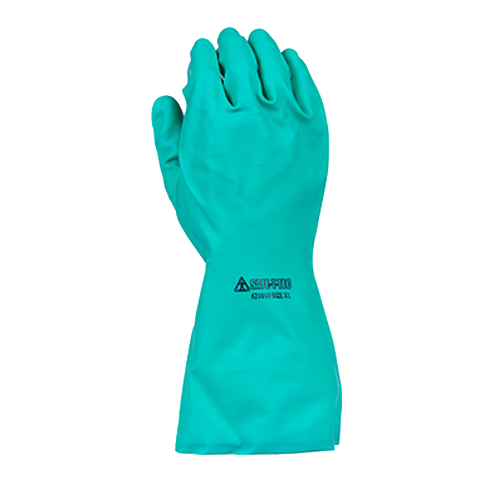 Safe-T-Tec: Green Nitrile Gauntlets