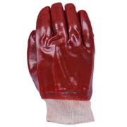 Safe-T-Tec: Red PVC with Knit Wrist