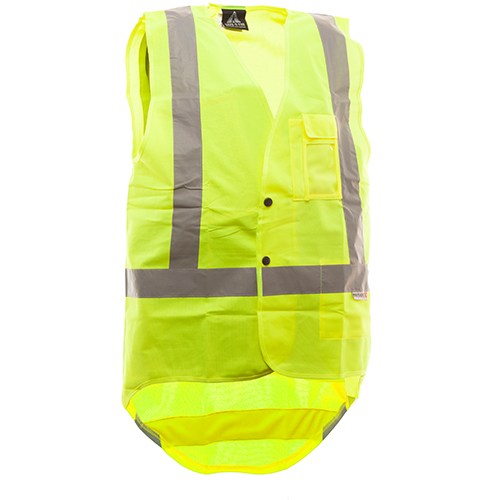Safe-T-Tec: Domed Hi-Vis Vest Day/Night Yellow