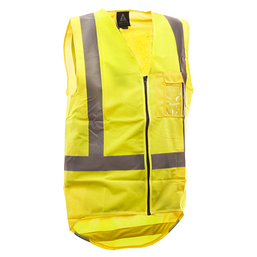 Safe-T-Tec: Zipped Safety Vest Day/Night Yellow