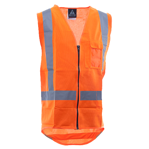 081ba2fa179f Safe-T-Tec  Zipped Safety Vest Day Night Orange