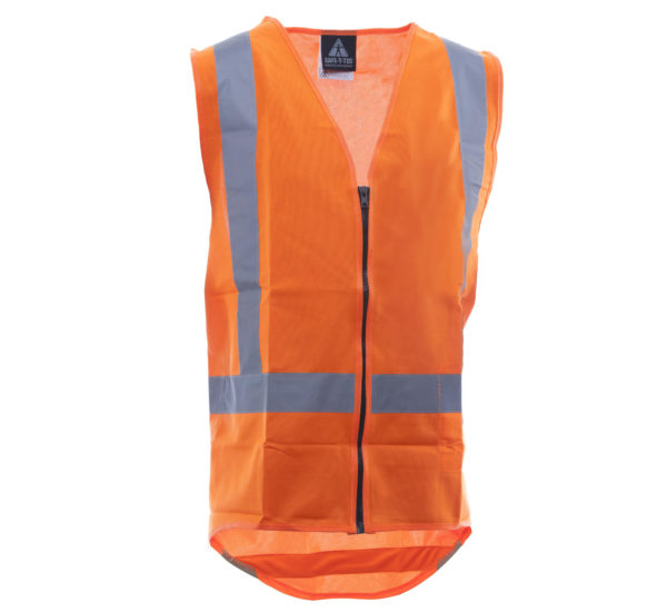 Day Night Vest Orange No Pockets
