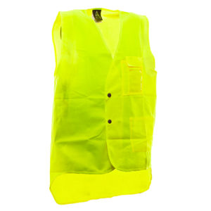 Safe-T-Tec: Domed Hi-Vis Vest Day Only Yellow