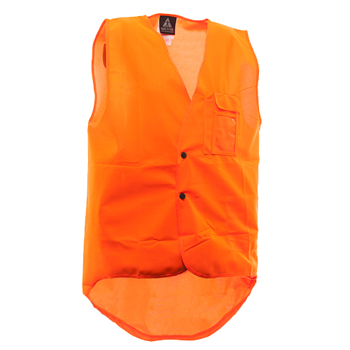 Safe-T-Tec: Domed Hi-Vis Vest Day Only Orange
