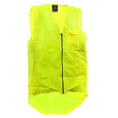 Safe-T-Tec: Zipped Safety Vest Yellow