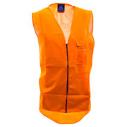 Safe-T-Tec: Zipped Safety Vest Orange