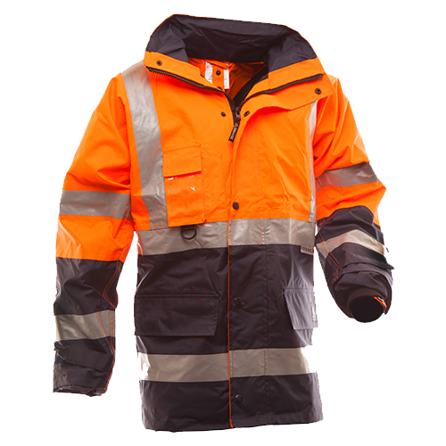 Safe-T-Tec: Essentials Jacket - Orange/Navy
