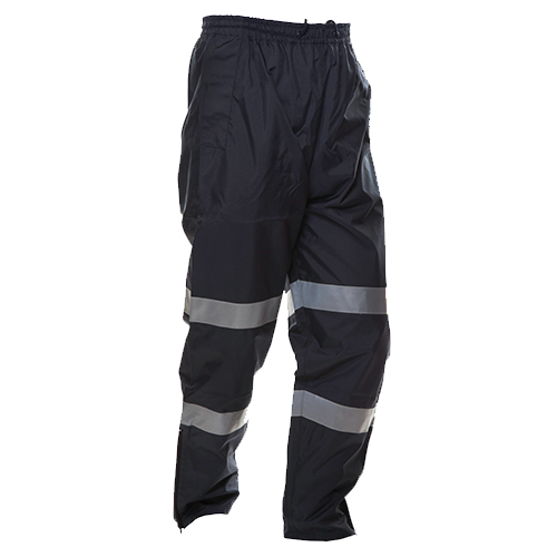 Safe-T-Tec: PU Coated Rain Trousers Navy