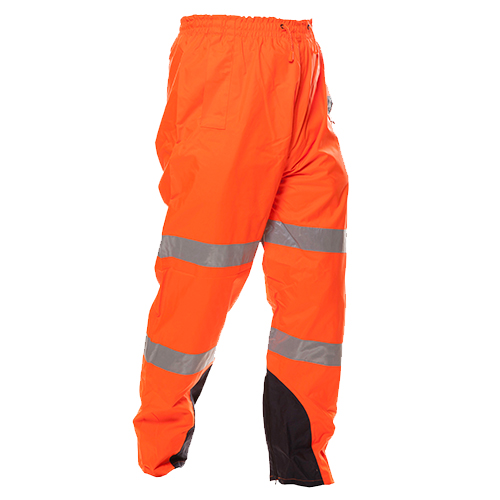 Safe-T-Tec: PU Coated Rain Trousers Orange