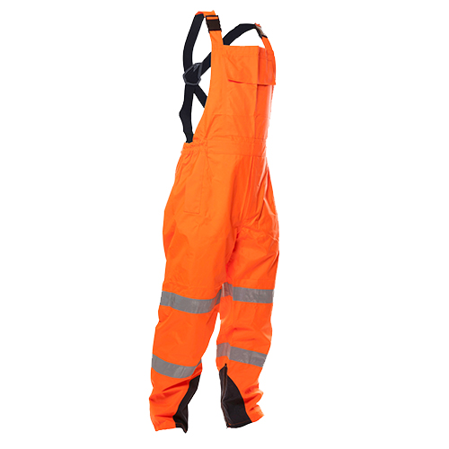 Safe-T-Tec: PU Coated Bib Trousers - Orange