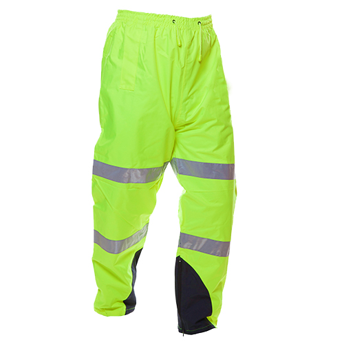 Safe-T-Tec: PU Coated Rain Trousers Yellow