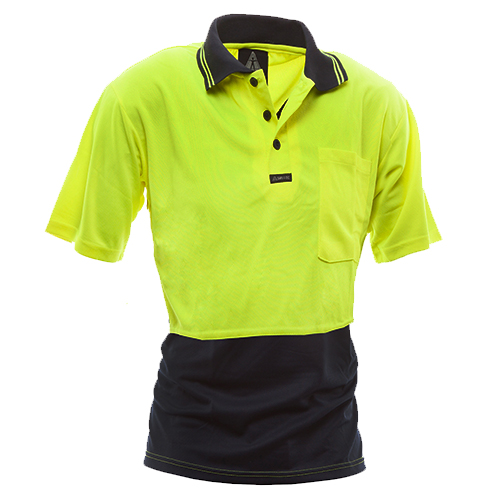 Safe-T-Tec: Short Sleeve Polo Yellow/Navy