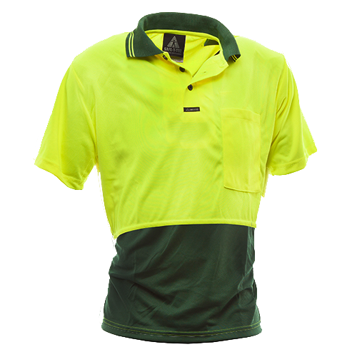 Short Sleeve Day Polo Yellow Bottle
