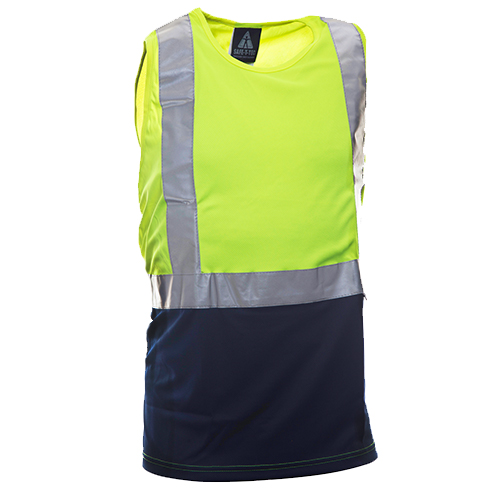Safe-T-Tec: Yellow/Navy Day/Night Singlet