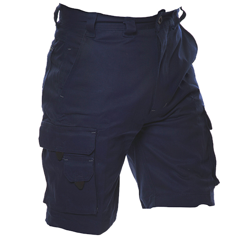 Safe-T-Tec: Industrial Cotton Shorts - Navy