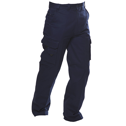 Safe-T-Tec: Industrial Cotton Pants - Navy