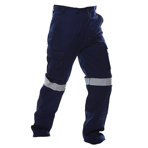 Safe-T-Tec: Industrial Cotton Pants - Hi Vis