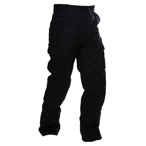Safe-T-Tec: Industrial Cotton Pants - Black