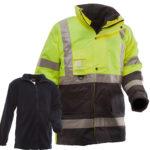 Safe-T-Tec: Essentials Fleece Lined Jacket - Yellow/Navy