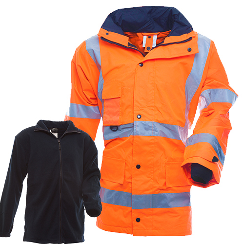Safe-T-Tec: Essentials Fleece Lined Jacket - Orange