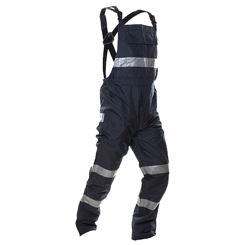 Safe-T-Tec: PU Coated Bib Trousers - Navy