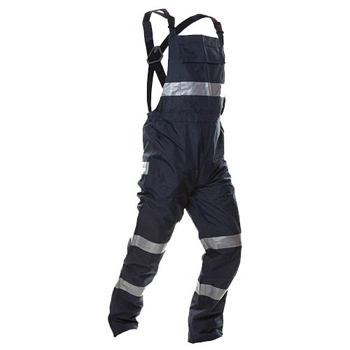 Safe-T-Tec: PU Coated Bib Trousers - Navy
