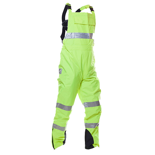 Safe-T-Tec: PU Coated Bib Trousers - Yellow