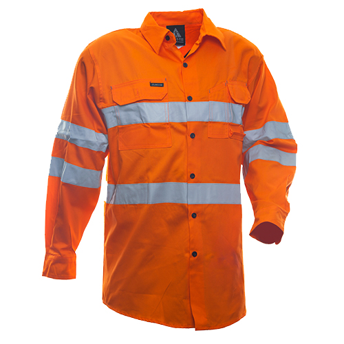 Safe-T-Tec: Long Sleeve Cotton Shirt. Day/Night AU