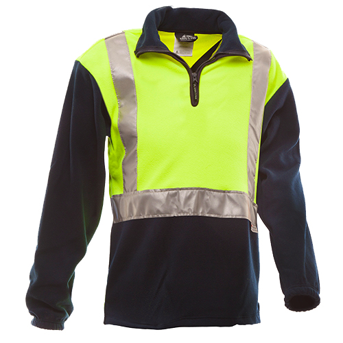 Safe-T-Tec: Day/Night Polar Fleece Yellow/Navy