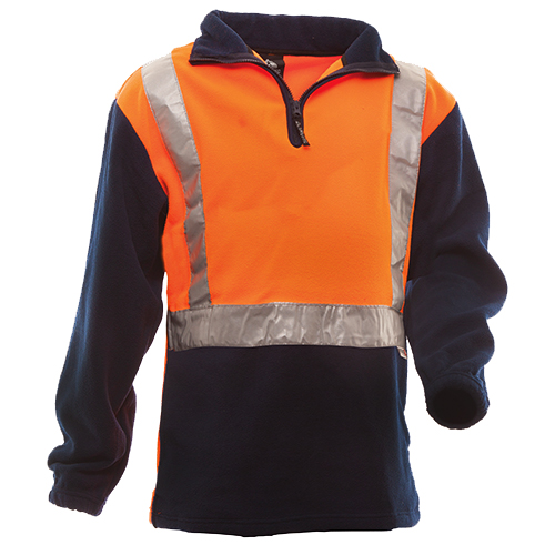 Safe-T-Tec: Day/Night Polar Fleece Orange/Navy
