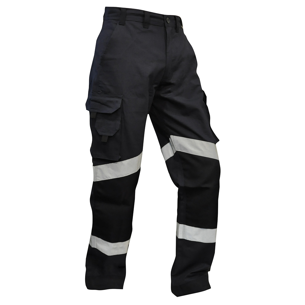 Safe-T-Tec: Rip Stop Cotton Pants -  Hi Vis Navy
