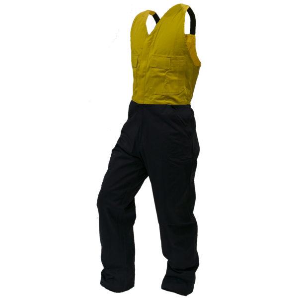 Safe-T-Tec: Yellow/Navy Bib Overalls