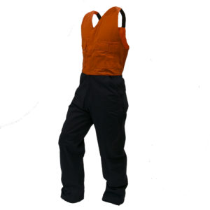 Safe-T-Tec: Orange/Navy Bib Overalls