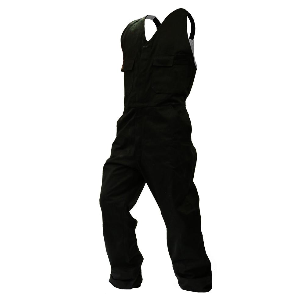 Safe-T-Tec: Black Bib Overalls