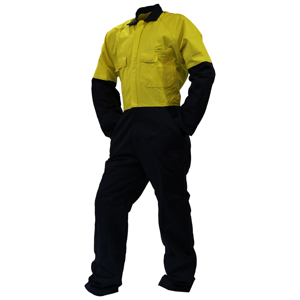 Safe-T-Tec: Yellow/Navy Overalls