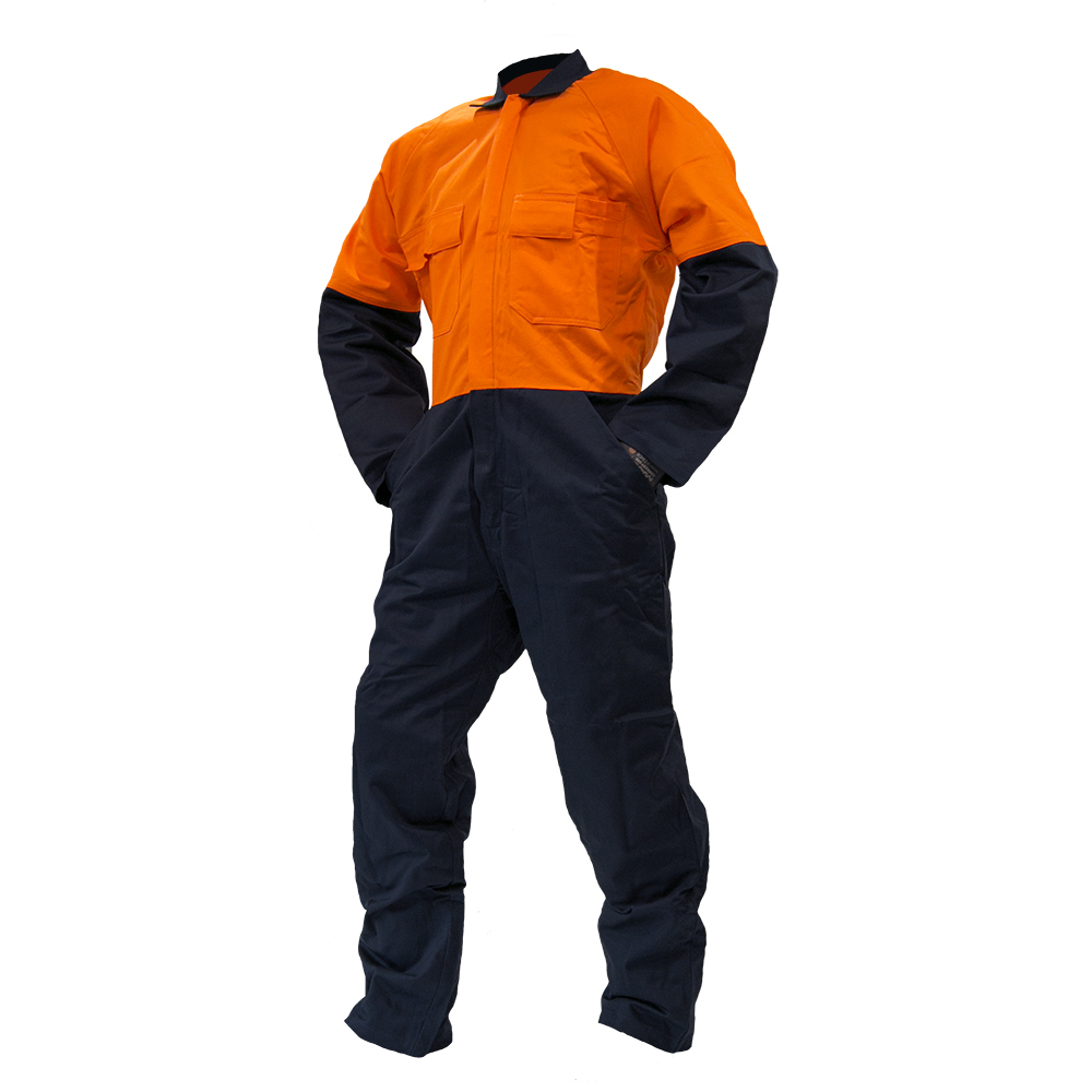 Safe-T-Tec: Orange/Navy Overalls