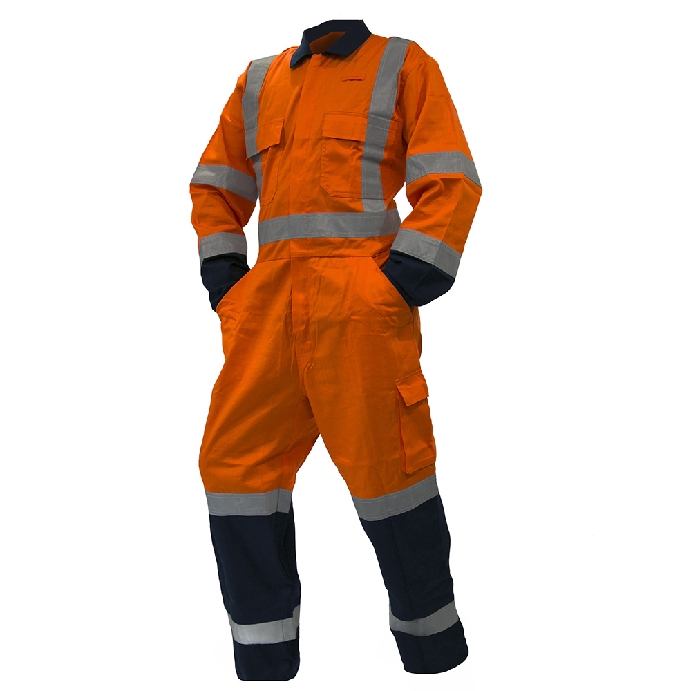 Safe-T-Tec: TTMC Lightweight Overalls Orange/Navy