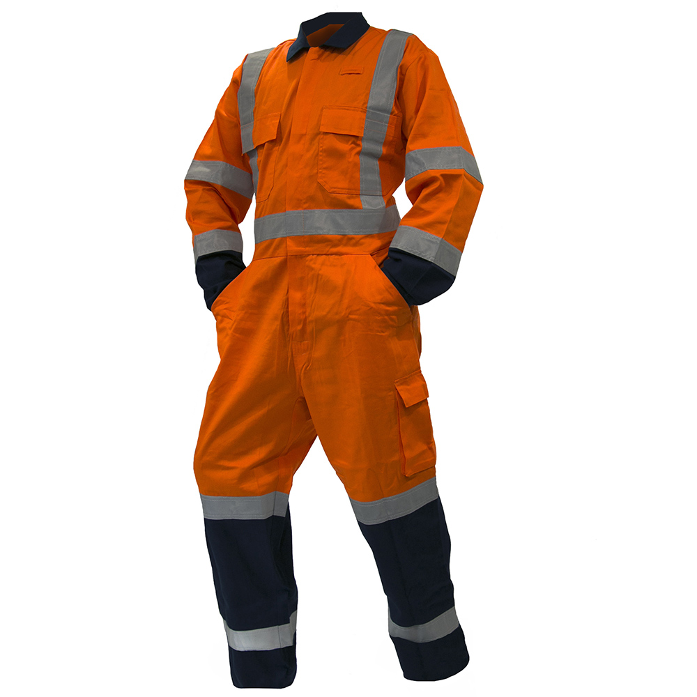 Safe-T-Tec: TTMC Overalls Orange/Navy