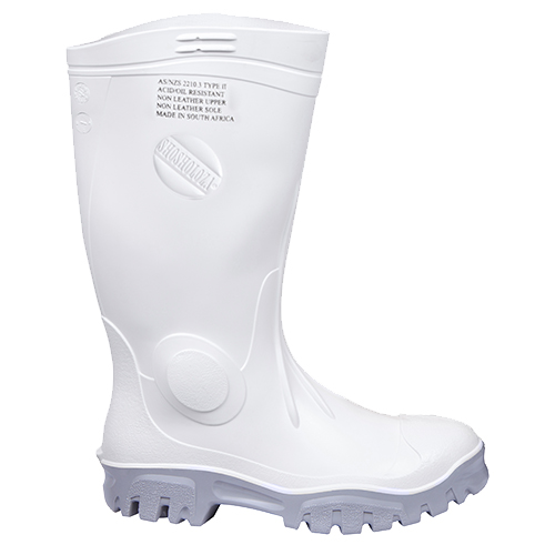 Safe-T-Tec: White - Grey Gumboot