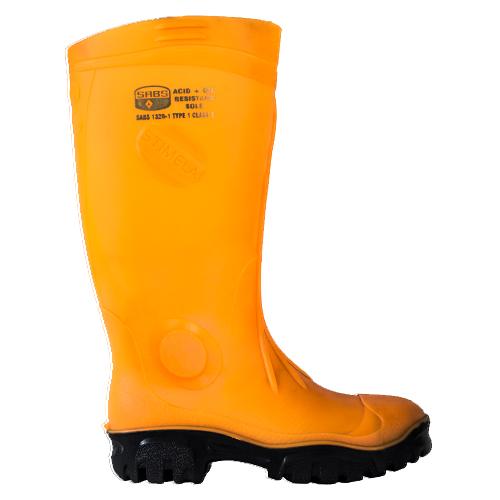 Safe-T-Tec: Fluro Orange Gumboot