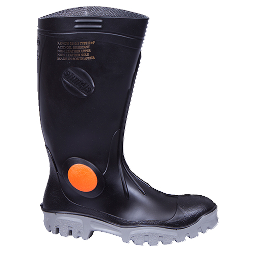 Safe-T-Tec: Black - Grey Gumboot